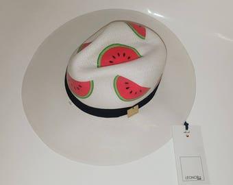 Watermelon panama hat