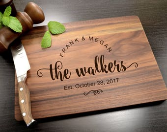 Personalized Cutting Board-Engraved, Custom Cutting Board, Personalized Wedding Gift, Housewarming Gift, Anniversary Gift, Engagement Gift