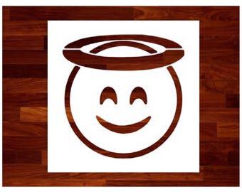 Custom Stencils - Angel Emoji Custom Stencil