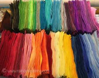 Bright Hand Dyed Felted 100% Wool for Applique or Rughooking - Your Color Choice