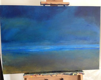 """Large Painting:  """"Beach At Night"""""""