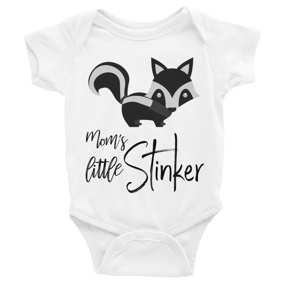 Funny baby onesie, Mommy's littler stinker with skunk onesie, funny baby onesie, woodland onesie, funny onesie, skunk shirt