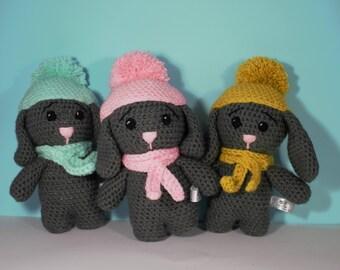 Vegan stuffed bunny etsy crochet bunny bunny rabbit toy vegan easter gift crochet rabbit baby safe negle Images