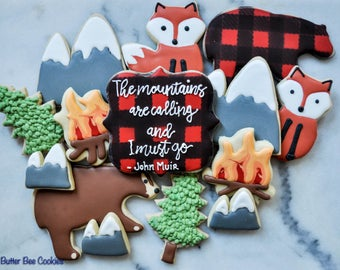 Custom Mountain Camp Sugar Cookies