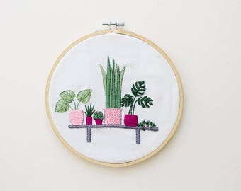 Embroidery Kit, Modern Embroidery Kit, Cross Stitch Kit, Modern Cross Stitch, Floral Embroidery, Needlepoint Kit, Plant Embroidery Pattern