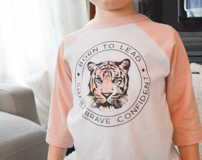 Featured listing image: Born to Lead Tiger /// Baseball Style /// Toddler Tee