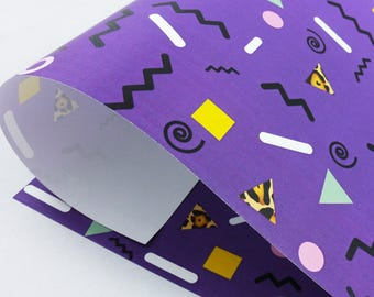 90's pattern Eco Wrapping Paper