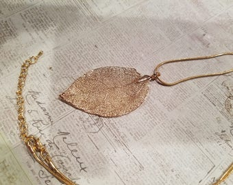 Leaf necklace g