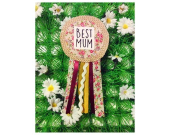 Best Mum Corsage, Mother's Day Badge