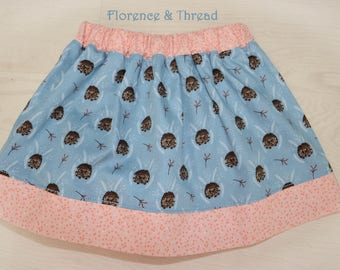 handmade girls hedgehog skirt age 2-3 years