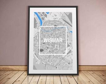 Wismar-Framed City-digital printing
