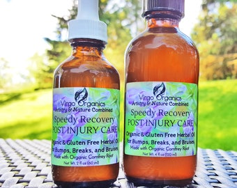 Speedy Recovery ~ Herbal Oil for Bumps, Bruises. Breaks/ Great for Sports Injuries!
