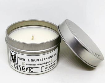 Olympic- 4OZ- Scented Candle- Soy Candle- Hiking- Camping- Nature Lover- Pine Candle- Hiking Gift- Adventure Awaits- PNW