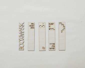 Wooden Bookmark | Custom | Books | Reading | Laser Cut | Engraved | Personalised