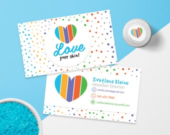 Rodan and Fields Business Cards, Fast Personalized, Rodan + Fields Independent Consultant, Modern Business Cards