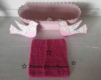 Bustier top crochet, tutu, 3/6 years