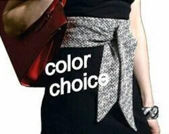 Black Long Sash Belt, Black Obi Sash Belt, Wide Belt, Double Sided Sash, Fabric Tie Belt