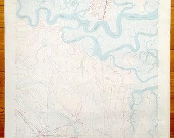 Antique St Marys Georgia Yulee Florida 1958 Us Geological Survey Topographic Map