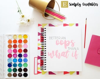 Better an Oops Than a What If Printable, Art Print, 8x10, Great Gift, Digital Decor, Printable Quote, Inspirational Home Printable Wall Art