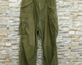 RARE 50's 60's Army Trousers Pants Military Olive Drab OG 107 WW2 Raf British Nigel Cabourn Engineered Garment Buzz Rickson Usn Usa