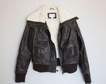 Vintage Riders Wool & Leather Jacket