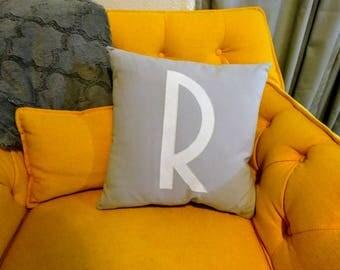 """Custom Initial 18"""" Pillow Cover"""