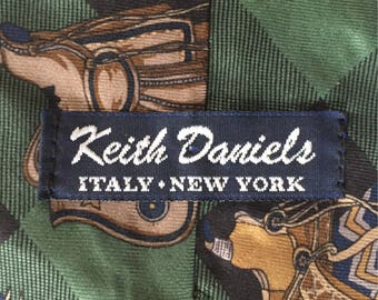Keith Daniels Buffalo Plaid Silk Saddle Necktie