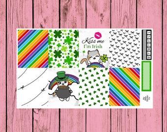Happy St. Patrick's Day - Itty Bitty Kitty - Leprechaun Mauly - 2 page mini kit