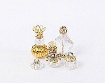 Miniature Gold & Crystal Perfume Bottles and Objet D'Art Set