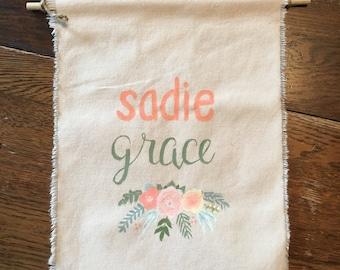 Custom Name Tapestry/Banner