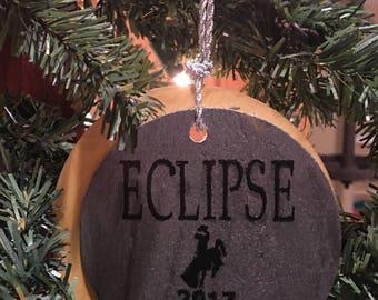 Eclipse 2017 Casper Wyoming Christmas tree ornaments