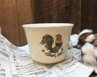 Taylor Smith Taylor Ramekin/Rooster/Oven Serve/Made in USA/Tiny Bowl/Farmhouse Kitchen