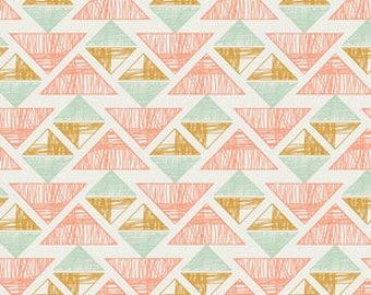 Crystal Arrowheads in Desert Crystal. Arizona by April Rhodes. Novelty Fabric. Tribal Fabric. Aztec Fabric. - Fabric by the Half Yard