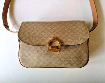 Authentic CELINE PARIS Monogram Crossbody Handbag