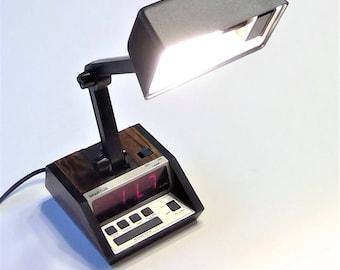 Vintage Alarm Clock Lamp- Working Condition
