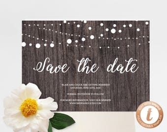 INSTANT DOWNLOAD Save the Date, Save the Date Template, Save the Date Printable, Wedding Printable, Wedding Template, Templett, PDF01