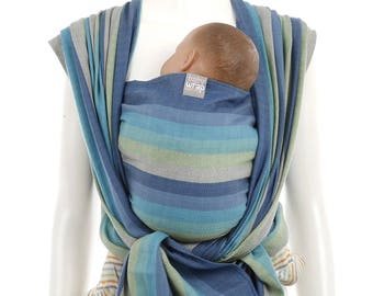 Woven Baby Wrap - Ocean - Woven Wrap Baby Carrier, Infant carrier, gift for new mom, baby sling, newborn and toddler
