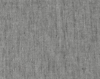Double Gauze Chambray in Charcoal - cotton fabric