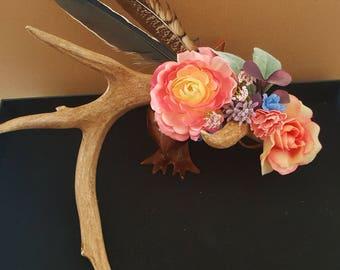 Bohemian Decorative Deer Antler