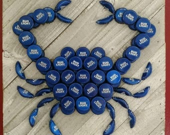Bud Light Craft Beer Bottle Cap Crab