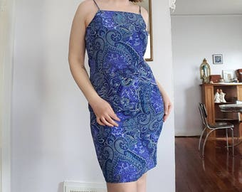 Vintage Blue Paisley Dress by Eye Candy
