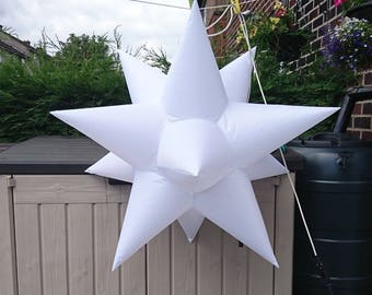 """1 x small 90cm dia. approx. Star Inflatable Decoration """"PLAIN"""" (MADE to ORDER)"""