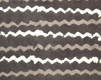 10% Off On Beige Zig Zag Pattern Cotton Fabric