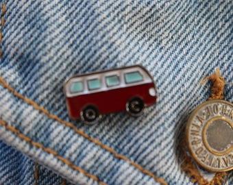 Van/Bus Tumblr Enamel Pin to put on jackets, hats, bags,etc.