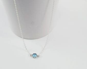 Aquamarine Birthstone Necklace, Aquamarine Jewelry, March Birthstone Necklace, Birthstone Jewelry