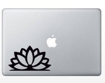 Lotus Blossom Vinyl Decal Sticker Flower Laptop MacBook Tablet Home Decor
