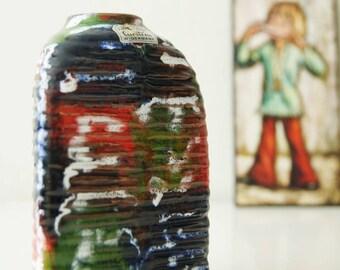 Rare vintage (60's) triangular vase, by Carstens, West Germany. Design Rudolf Christmann