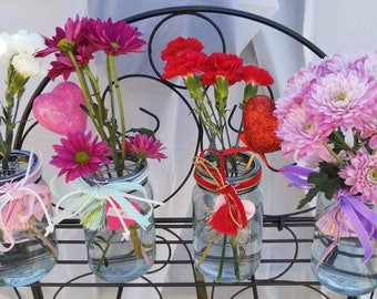 Four (4) Single Mason Jar Vases from the CAMPAGNE (French Country) Collection