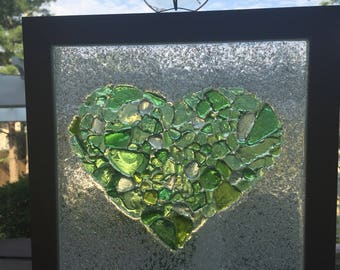 Glittery Heart Suncatcher
