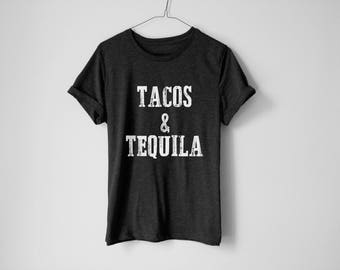 Tacos And Tequila | Tequila Shirt | Party Shirt | Tacos Shirt | Shirt To Party | Funny Shirt | Tequila Lover | Drinking Shirt | Tequila Gift